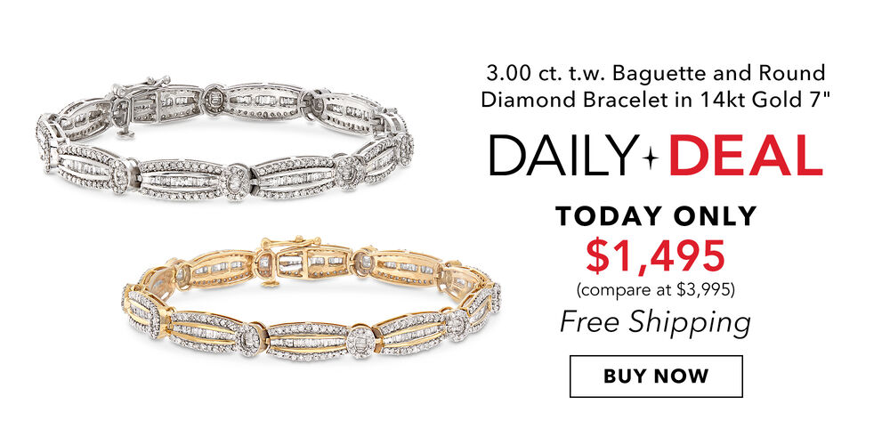 Dazzling Daily Deal A gorgeous 3 ct. diamond bracelet
