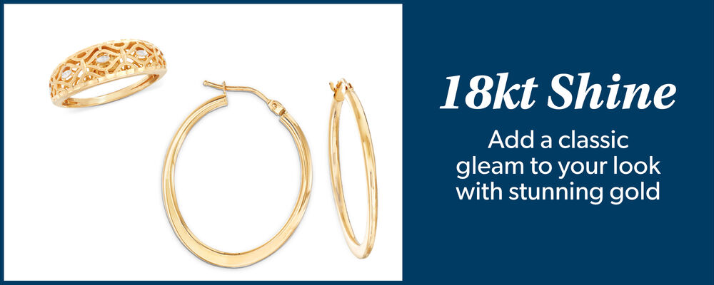 Add a classic gleam to your srunning gold