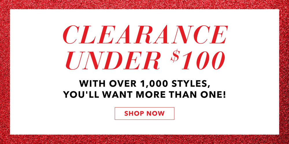 Amazing Savings Clearance styles under $100