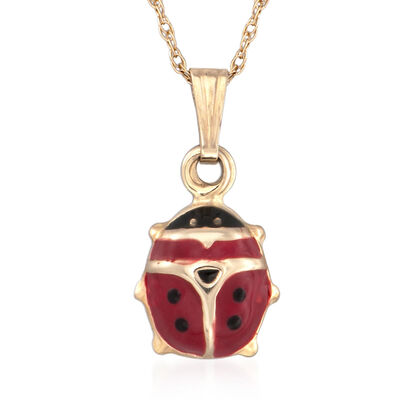 Children's Pendants. Image Featuring Lady-Bug Pendant