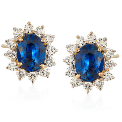 Estate Sapphire Earrings