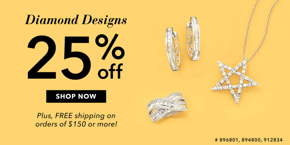 25% Off Diamond Designs Save on sparkling baguettes & more