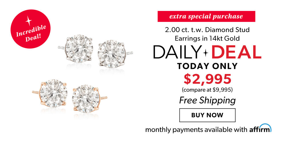 Daily Deal - Today Only! 2ct. diamond studs - incredible!