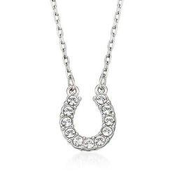 Swarovski Crystal 'Towards' Crystal Horseshoe Pendant Necklace. #798522