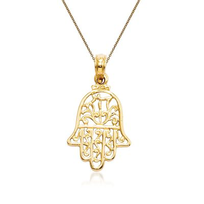 14kt Yellow Gold Chamseh Pendant Necklace, , default