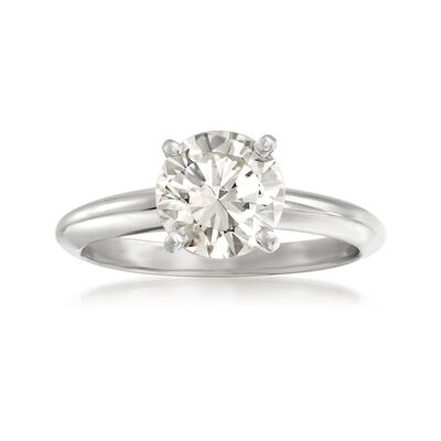 1.52 Carat Diamond Solitaire Ring in 14kt White Gold, , default