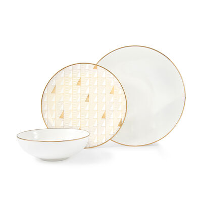 "Lenox ""Trianna White"" 12-pc. Porcelain Dinnerware Set, , default"