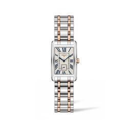Longines Dolcevita Women's 20.5x32mm Stainless Steel and 18kt Rose Gold Watch, , default