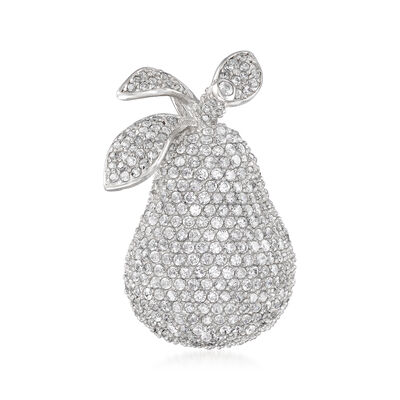5.65 ct. t.w. CZ Pear Pin/Pendant in Sterling Silver