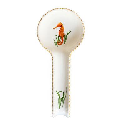 Abbiamo Tutto Seahorse Ceramic Spoon Rest from Italy