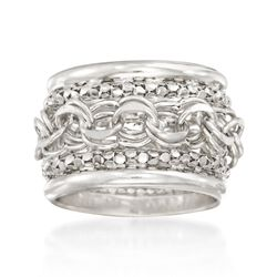Sterling Silver Multi-Link Ring, , default