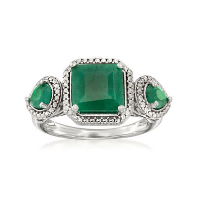 2.50 ct. t.w. Emerald Ring in Sterling Silver