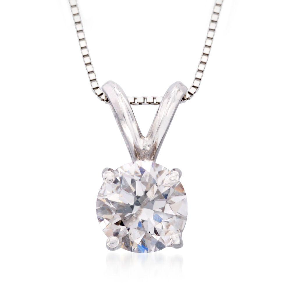 25 carat diamond solitaire pendant necklace in 14kt white gold 18 25 carat diamond solitaire pendant necklace in 14kt white gold 18quot aloadofball Choice Image