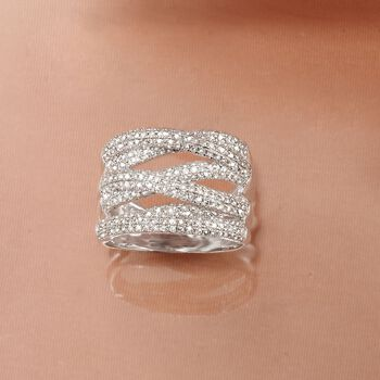 1.00 ct. t.w. Diamond Highway Ring in Sterling Silver, , default