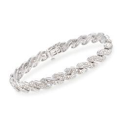 1.00 ct. t.w. Diamond Bracelet in Sterling Silver, , default