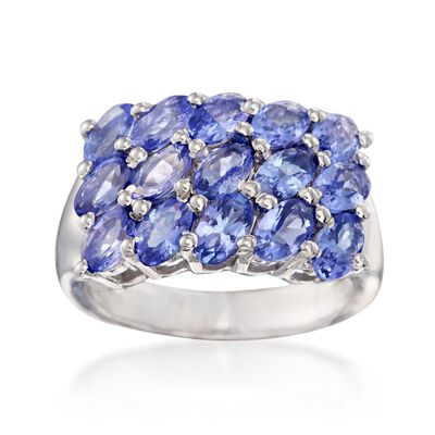 3.70 ct. t.w. Tanzanite Ring in Sterling Silver, , default
