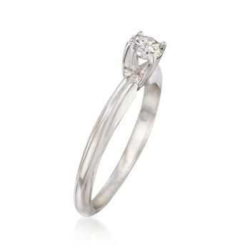 C. 2000 Vintage .27 Carat Diamond Solitaire Ring in 14kt White Gold. Size 6.5, , default