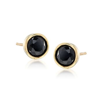 3.60 ct. t.w. Multi-Gem Jewelry Set: Three Pairs of Bezel-Set Stud Earrings in 18kt Gold Over Sterling