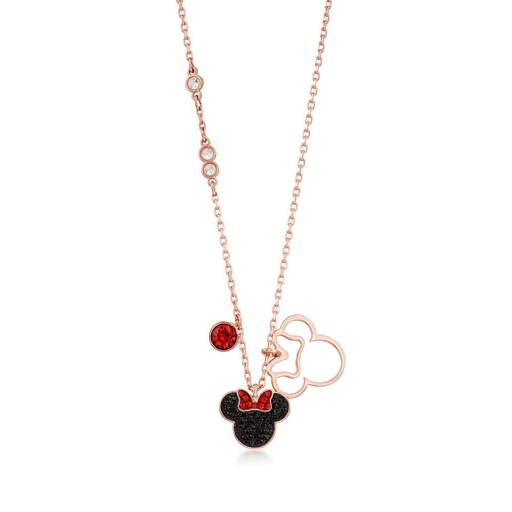 "0a4cf43a7 Swarovski Crystal Minnie Mouse Pendant Necklace. 16.5"", , default"