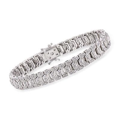 C. 1980 Vintage 1.00 ct. t.w. Diamond Link Bracelet in 18kt White Gold