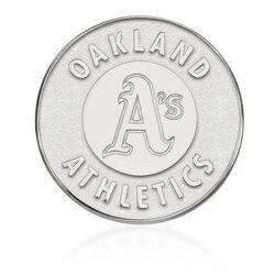 14kt White Gold MLB Oakland Athletics Lapel Pin, , default
