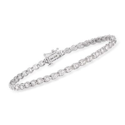 2.00 ct. t.w. Diamond Bracelet in 14kt White Gold