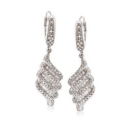 1.00 ct. t.w. Diamond Drop Earrings in Sterling Silver, , default