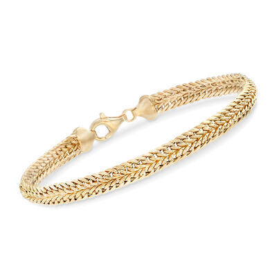 14kt Yellow Gold Double-Row Link Bracelet, , default