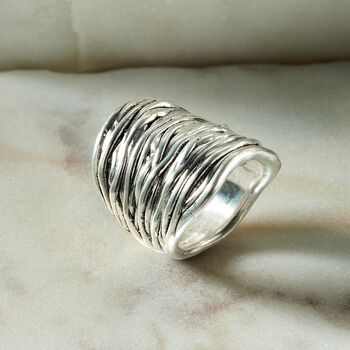 Sterling Silver Multi-Row Wrap Ring