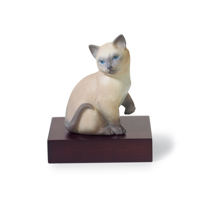 "Lladro ""Lucky Cat"" Porcelain Figurine, , default"