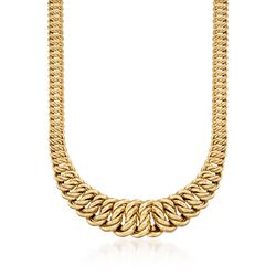 "14kt Yellow Gold Graduated America-Link Necklace. 17.5"", , default"