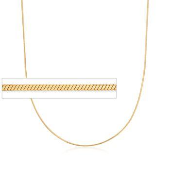 Italian 1mm 18kt Gold Over Sterling Adjustable Snake Chain Necklace , , default