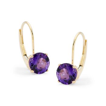 1.50 ct. t.w. Amethyst Earrings in 14kt Yellow Gold, , default