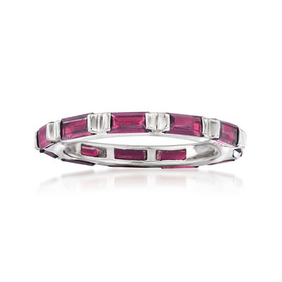 2.60 ct. t.w. Rhodolite Garnet Eternity Ring in Sterling Silver, , default