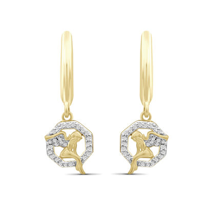 .26 ct. t.w. Diamond Angel Drop Earrings in 18kt Yellow Gold Over Sterling Silver, , default