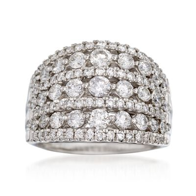 2.00 ct. t.w. Multi-Row Diamond Ring in 14kt White Gold, , default