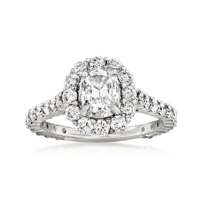 Henri Daussi 1.81 ct. t.w. Diamond Engagement Ring in 18kt White Gold