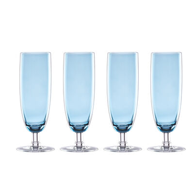 "Lenox ""Valencia"" Set of 4 Blue Flute Glasses, , default"