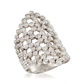 1.75 ct. t.w. Diamond Geometric Ring in 14kt White Gold, , default