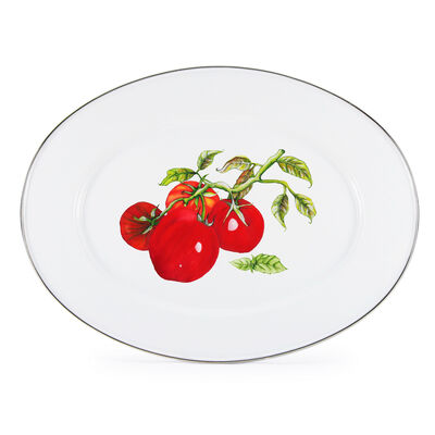 "Golden Rabbit ""Tomatoes"" Oval Platter, , default"