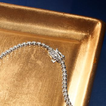 3.00 ct. t.w. Graduated Diamond Tennis Necklace in 14kt White Gold