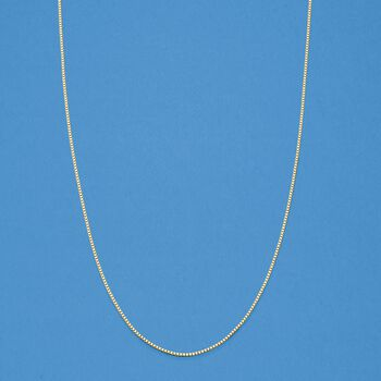 """.8mm 14kt Yellow Gold Adjustable Box Chain Necklace. 22"""", , default"""