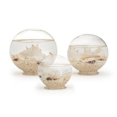"Set of 3 ""Atlantis"" Decorative Filled Globes, , default"
