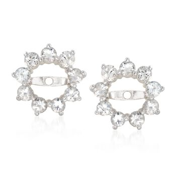 9.70 ct. t.w. Multi-Stone Jewelry Set: Five Pairs of Earrings with Earrings Jackets in Sterling Silver, , default