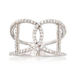 .40 ct. t.w. Diamond Interlocking Ring in 14kt White Gold, , default