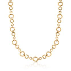 "14kt Yellow Gold Circle-Link Necklace. 18"", , default"