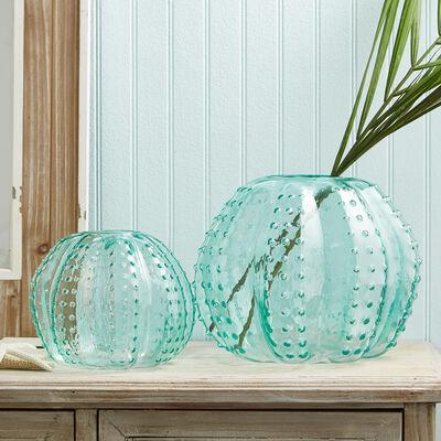 Set of Two Sea Urchin Art Glass Vases, , default