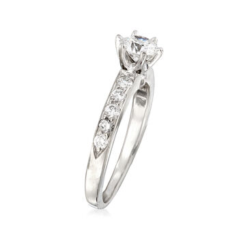 C. 1990 Vintage Tiffany Jewelry .72 ct. t.w. Diamond Ring in Platinum. Size 5, , default