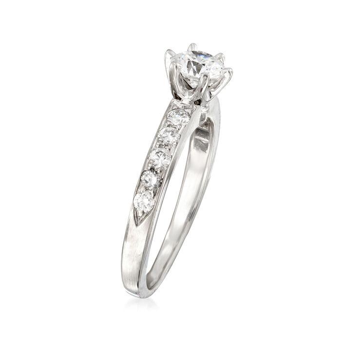 C. 1990 Vintage Tiffany Jewelry .72 ct. t.w. Diamond Ring in Platinum