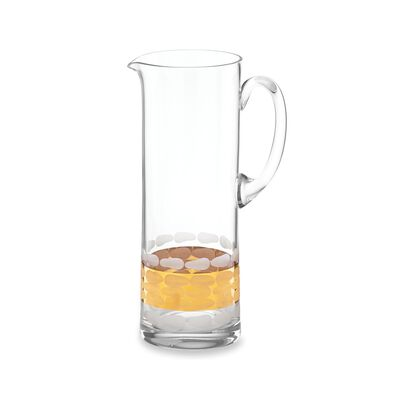 """Michael Wainwright """"Truro"""" Glass Pitcher With 24kt Gold, , default"""